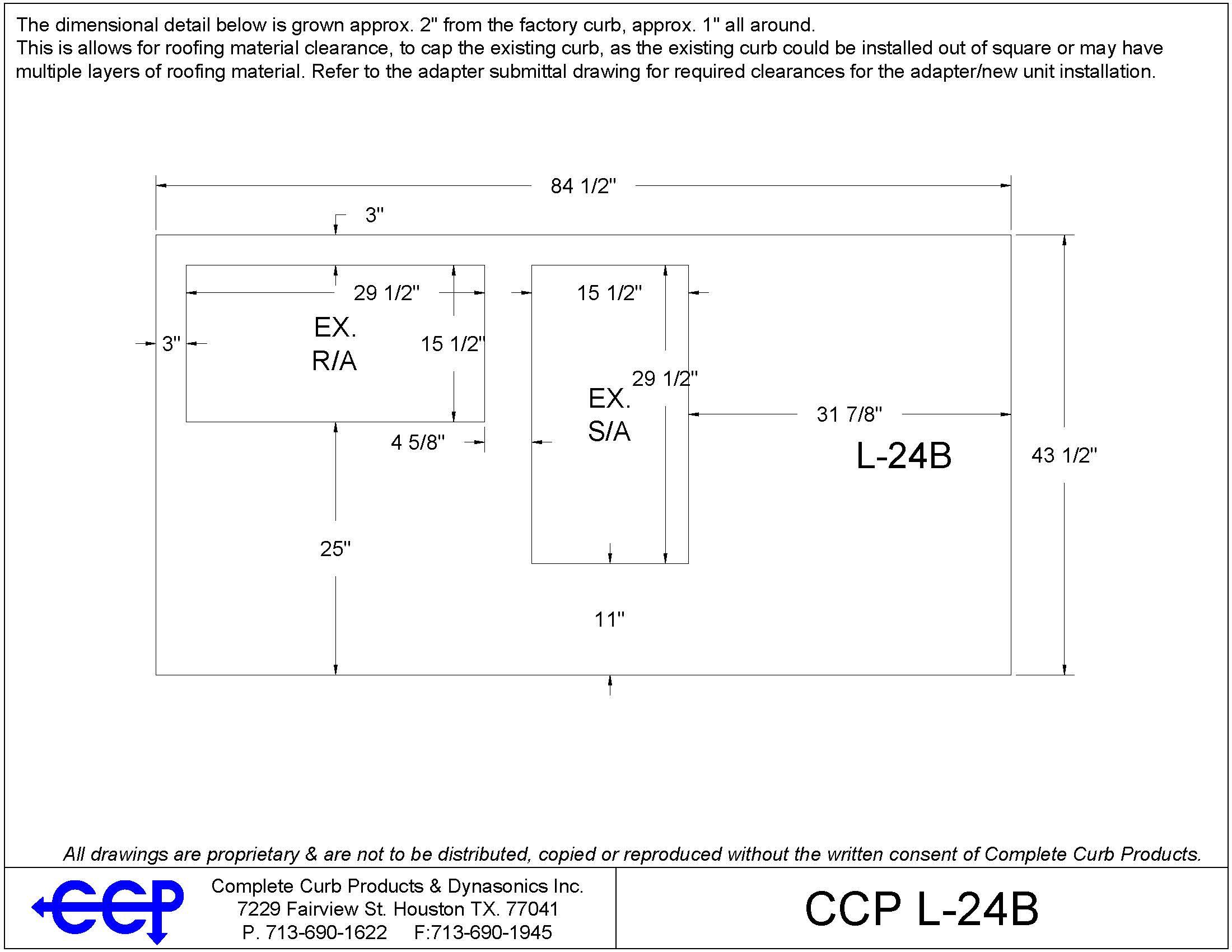 GCS24D 651/653 - Complete Curbs