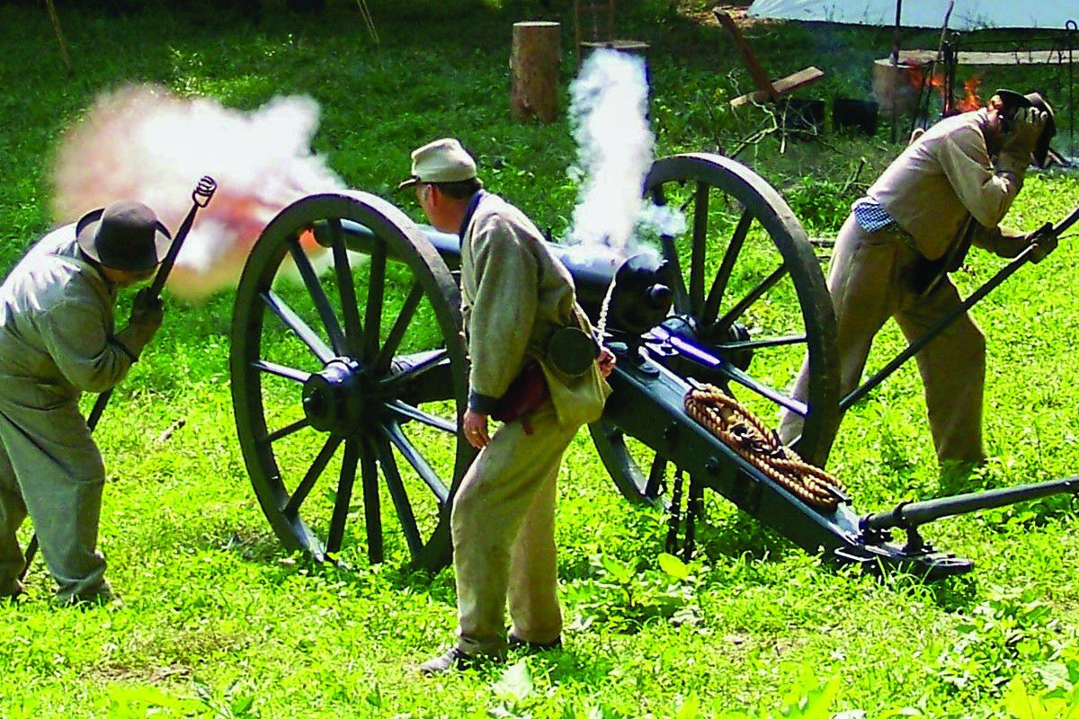 Mill Springs Battlefield Artillery Fire Living History Event