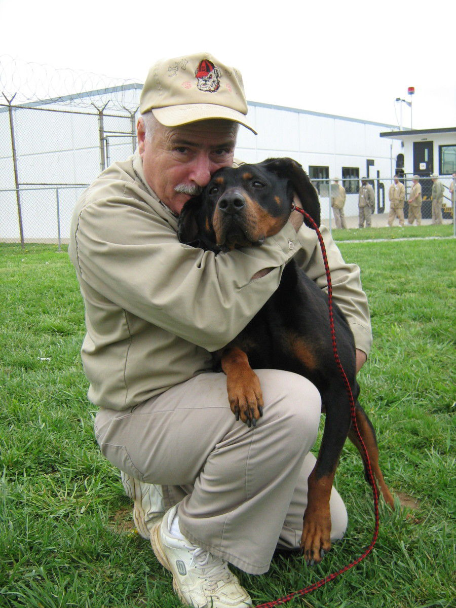 Inmates train adoptable dogs