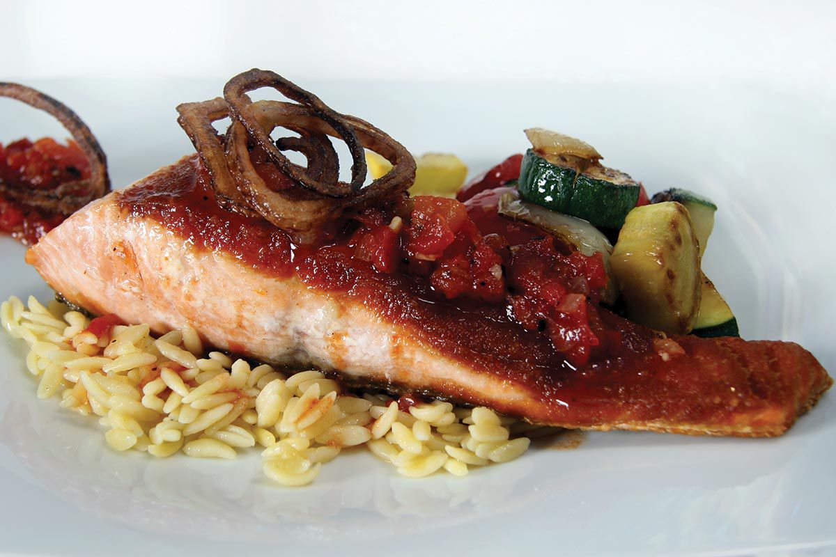 Salmon-with-Tomato-Gastrique