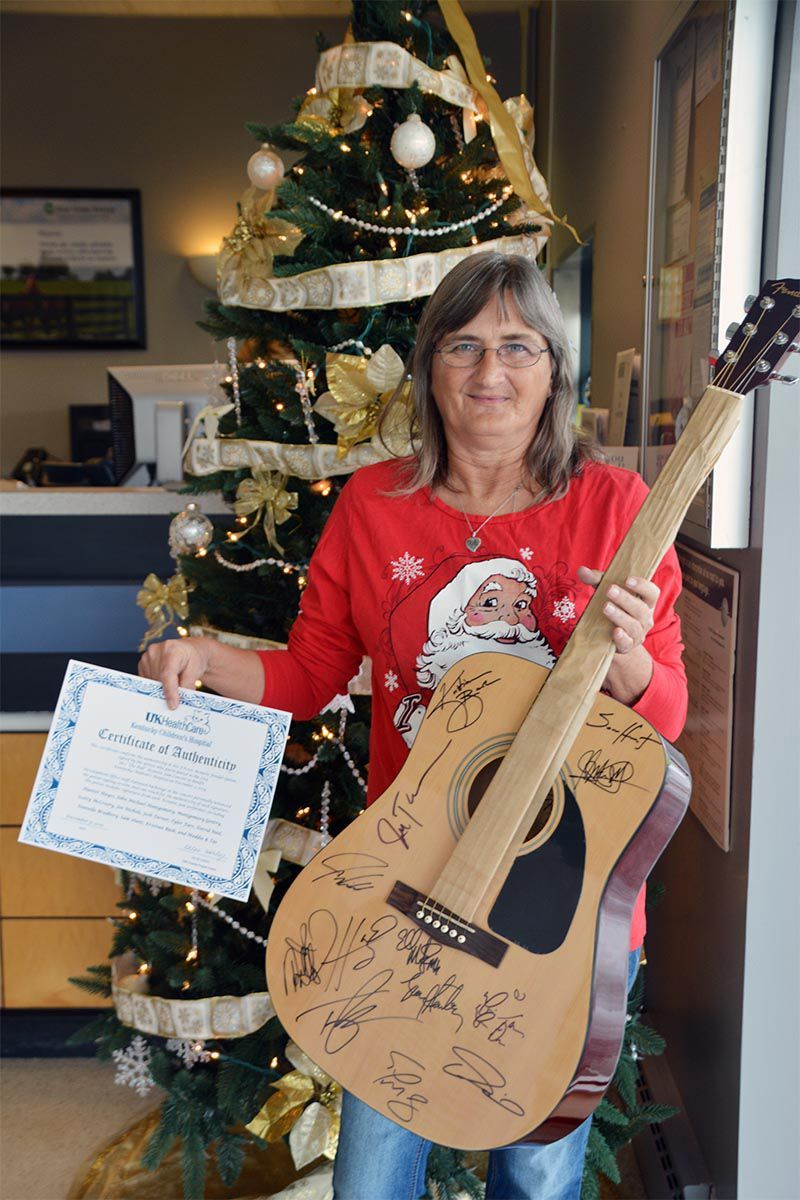 Marie Runyon member of Blue Grass Energy wins charity raffle