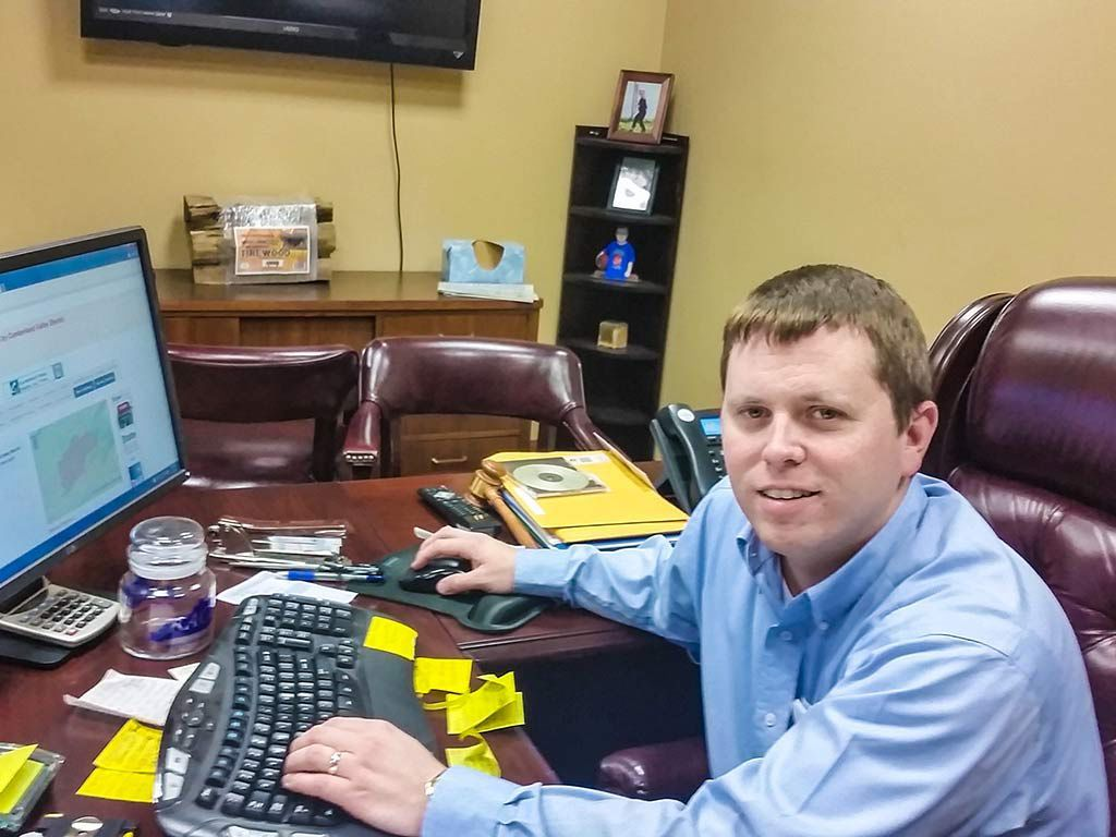 Through the access provided by Cumberland Valley Electric, Harlan County Judge Executive Dan Mosley is making good use of the StateBook.com program to bring business and jobs to the area. Photo: Colby Goss