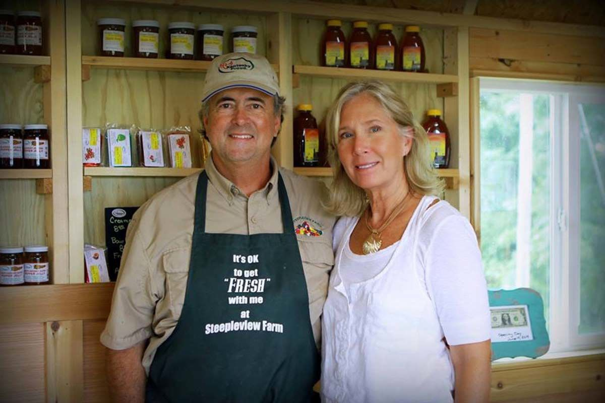 Steepleview Farm owners Marc and Harriet Carey