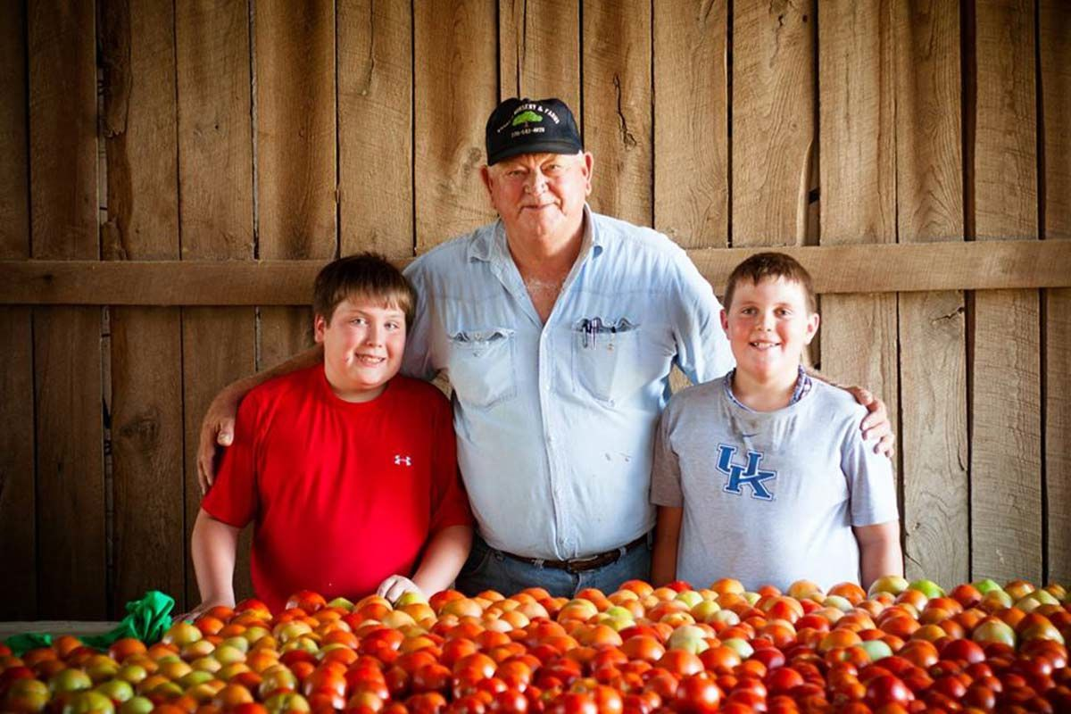Russell Poore and great-grandsons