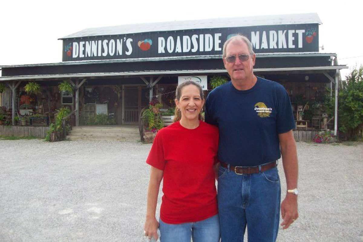 Dennison's Roadside Market owners Paul and Kathy Dennison