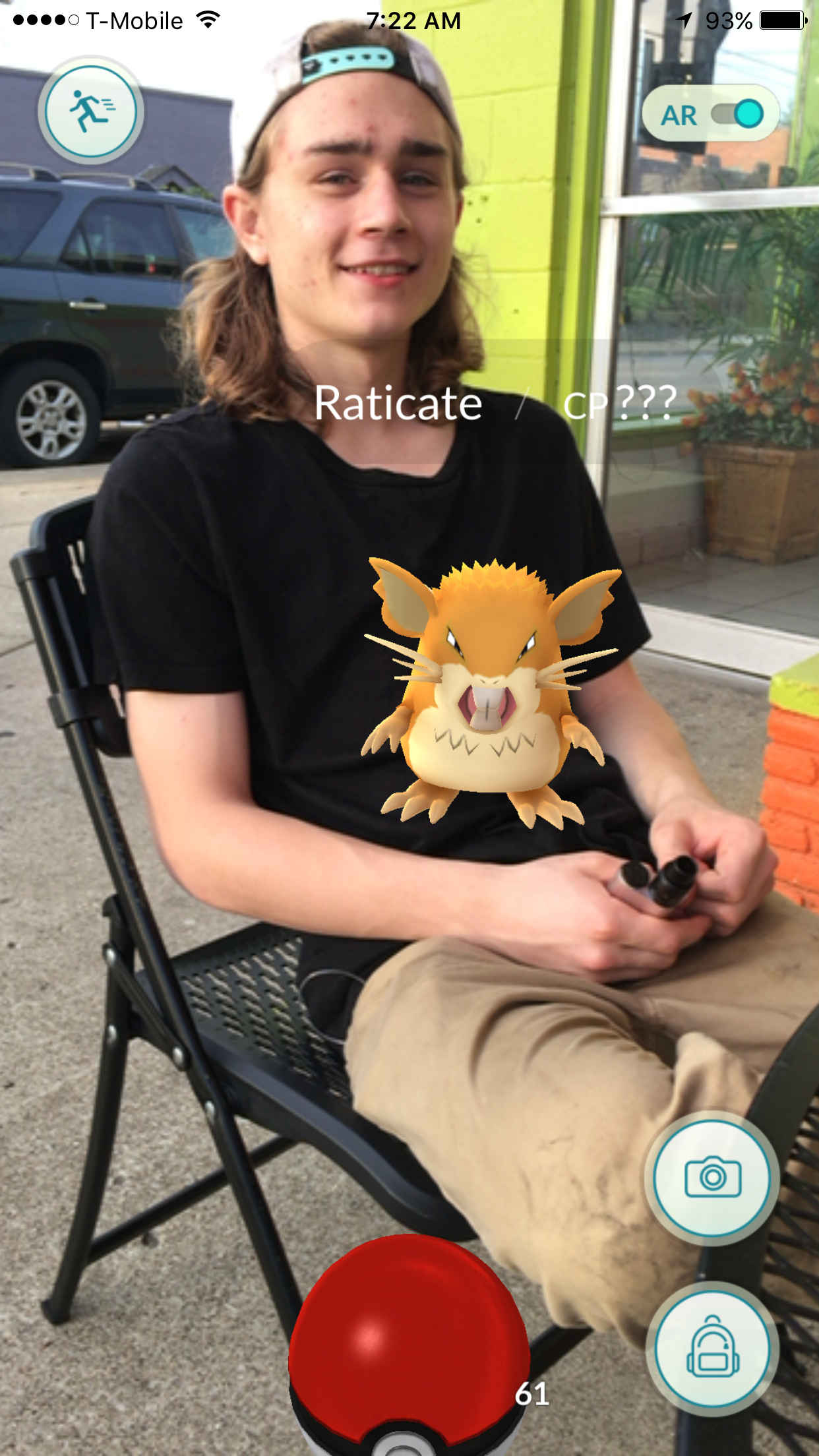 """I was playing, the Pokémon was actually on top of my server."" says George."