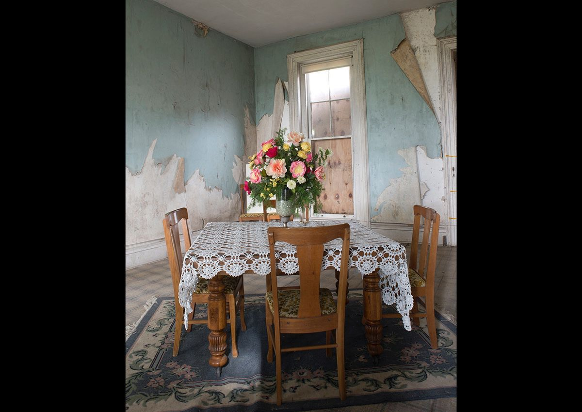 The Dining room of the Holt House still  under going restoration