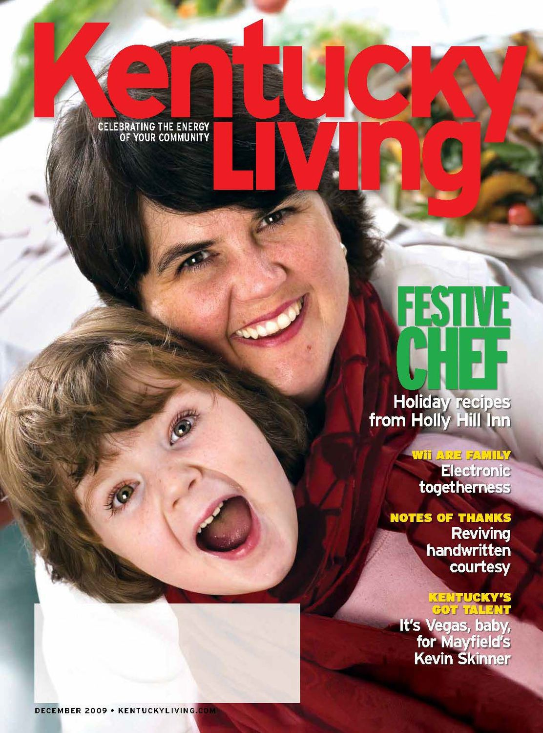 Chef Ouita Michel was featured in the December 2009 Kentucky Living Magazine