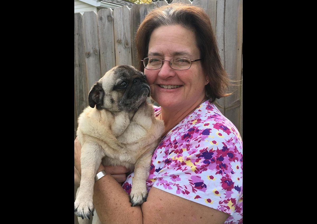 Annie Julian Faircloth with a rescued pug. Photo: Annie Julian Faircloth