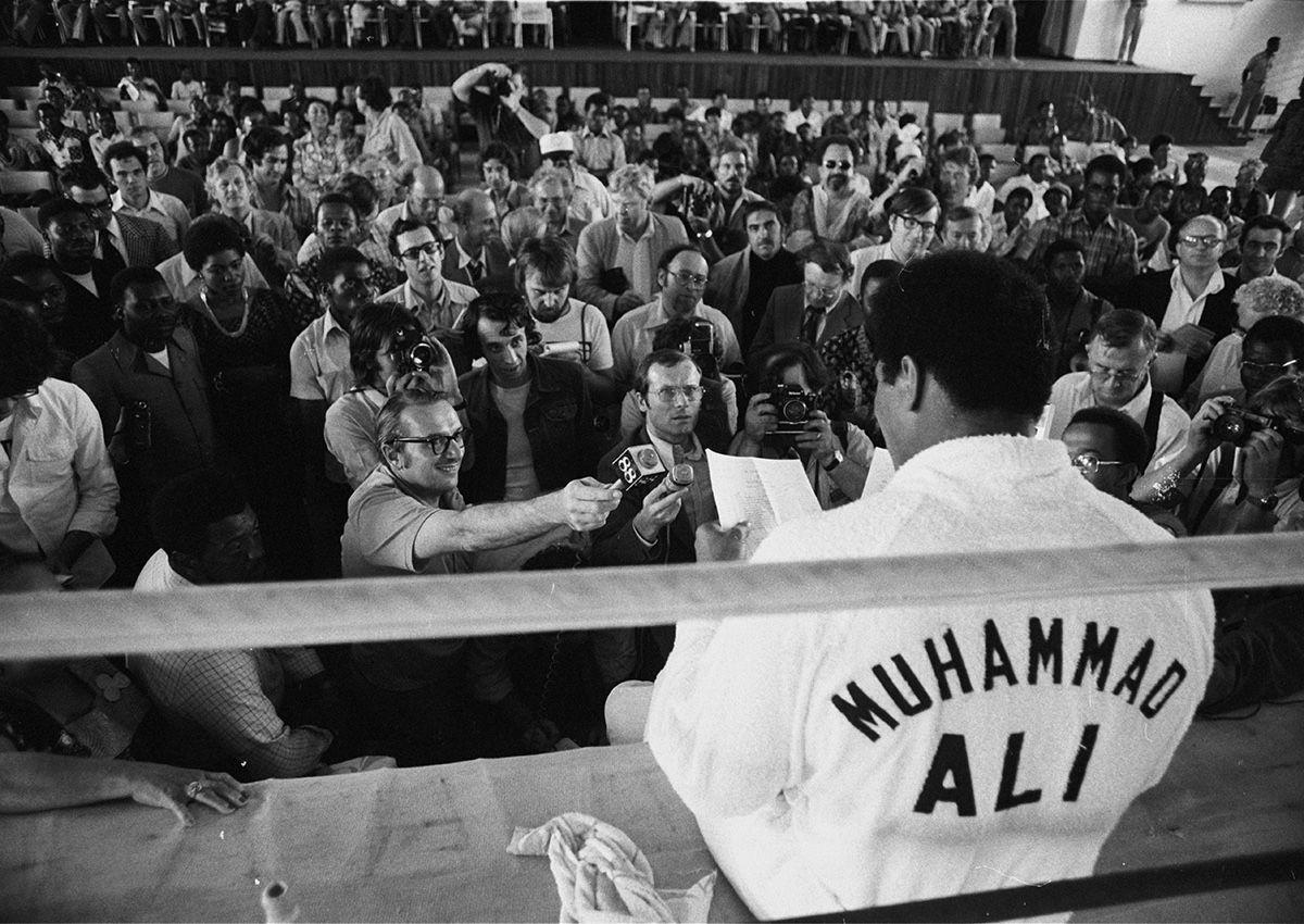 Ali answering press questions