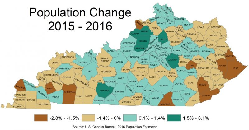 Kentucky's rural counties take hit in latest census data
