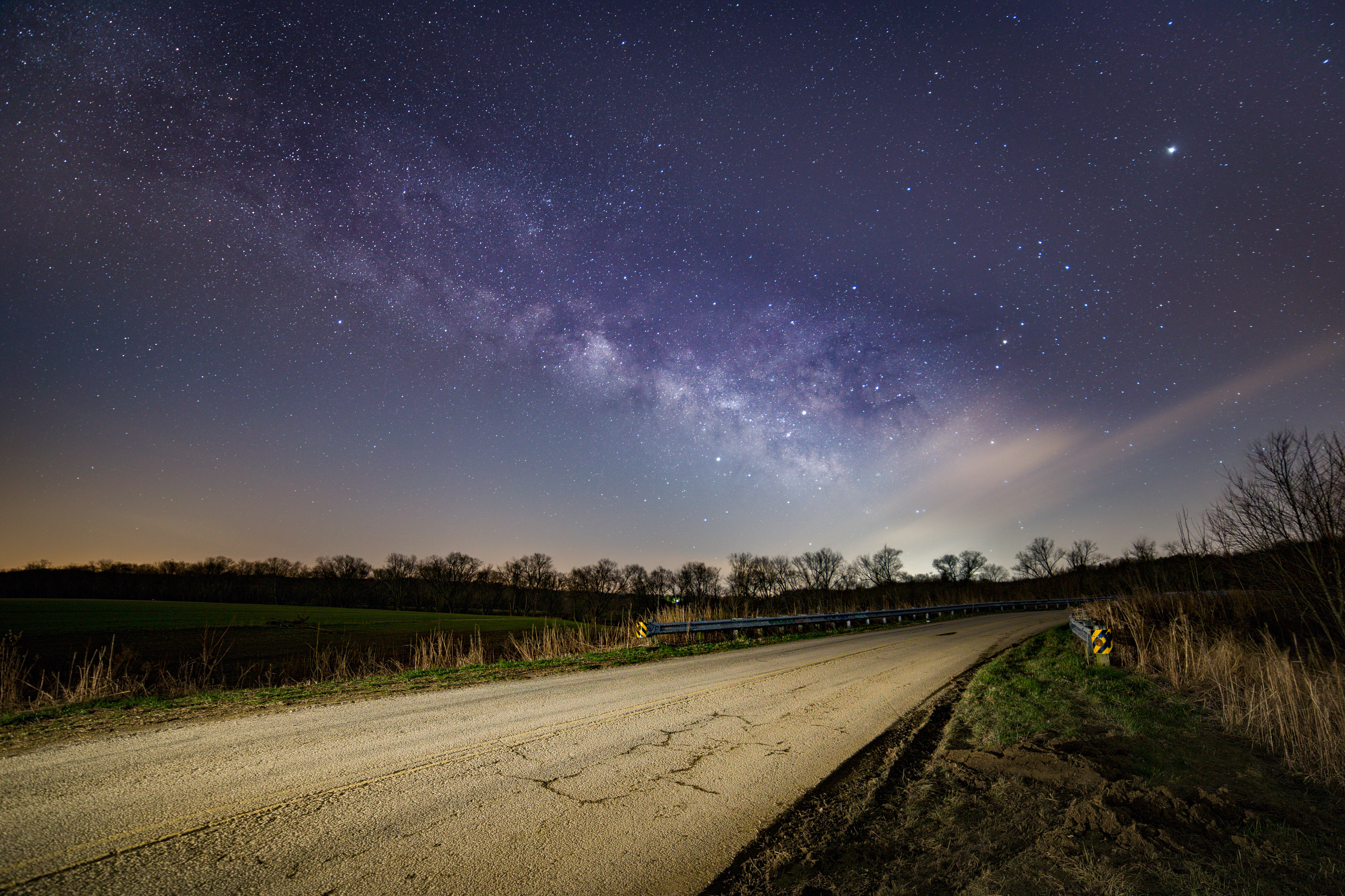 Where the road meets the sky