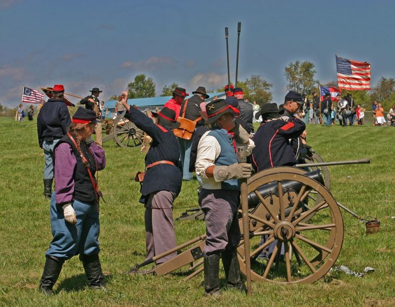Reenactment of the Battles of Lawrenceburg and Dog Walk