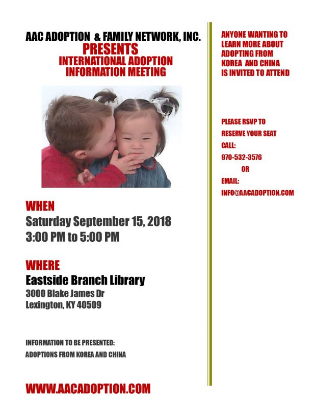INTERNATIONAL ADOPTION  INFORMATION MEETING
