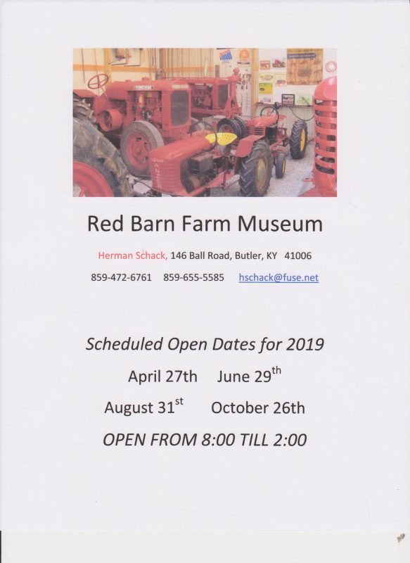 Red Barn Farm Museum Open House