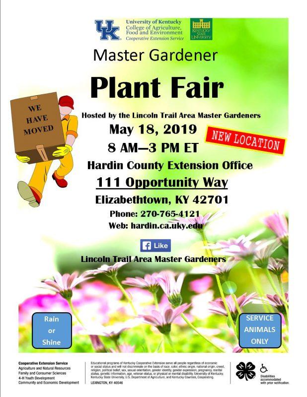 Hardin County Master Gardeners Plant Fair