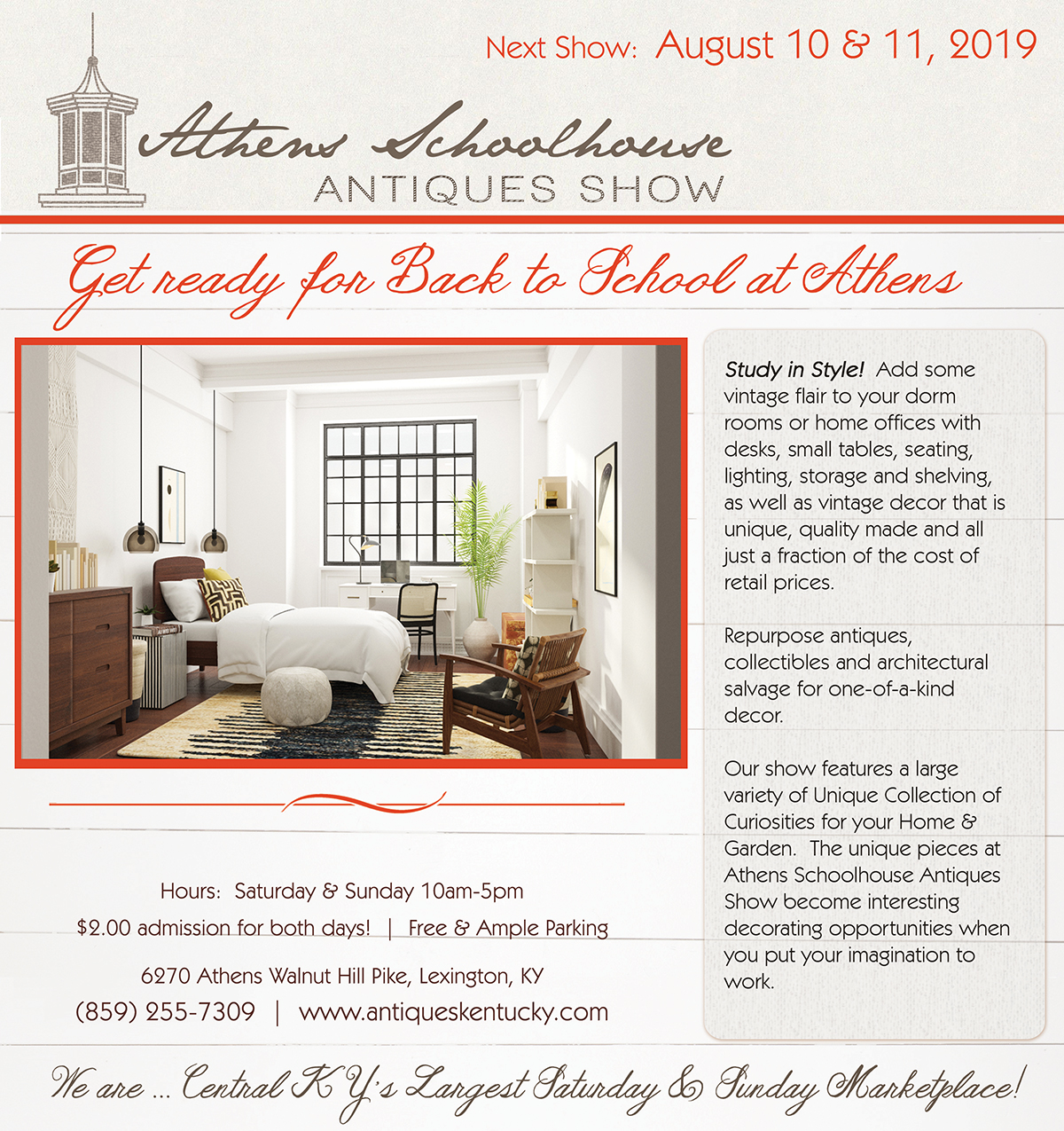 Athens Schoolhouse Antiques Show - Kentucky Living