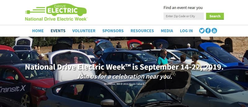 National Drive Electric Week Electric Vehicle Display