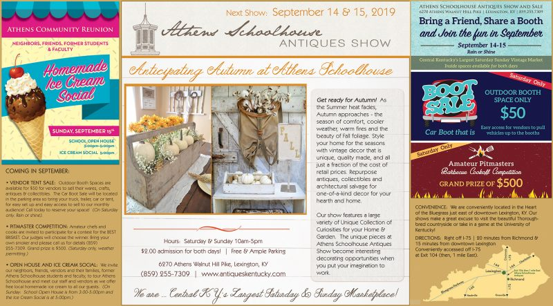 Athens Schoolhouse Antiques Show – Ice Cream Social