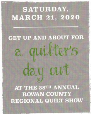 38th Annual Rowan County Regional Quilt Show