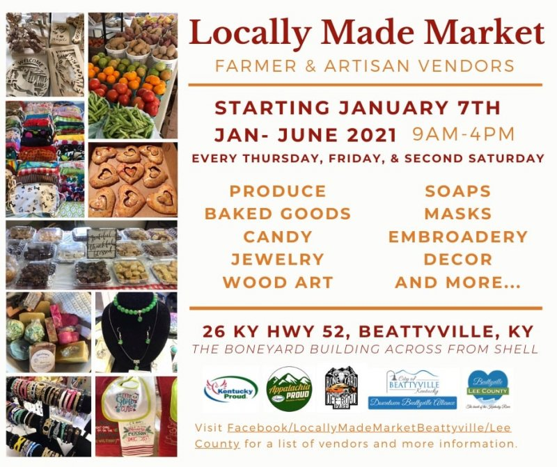 Locally Made Farmer's Market Beattyville/Lee County