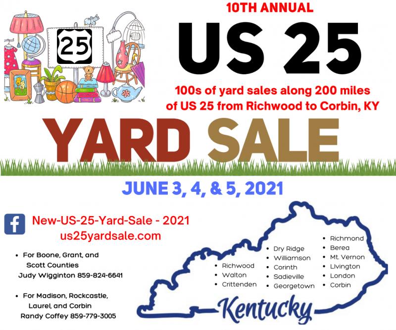 US 25 Yard Sale