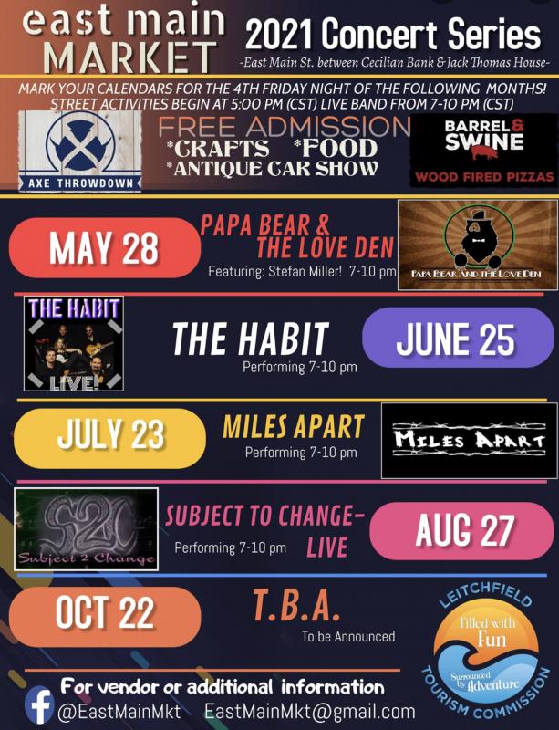 East Main Market Concert Series: Miles Apart