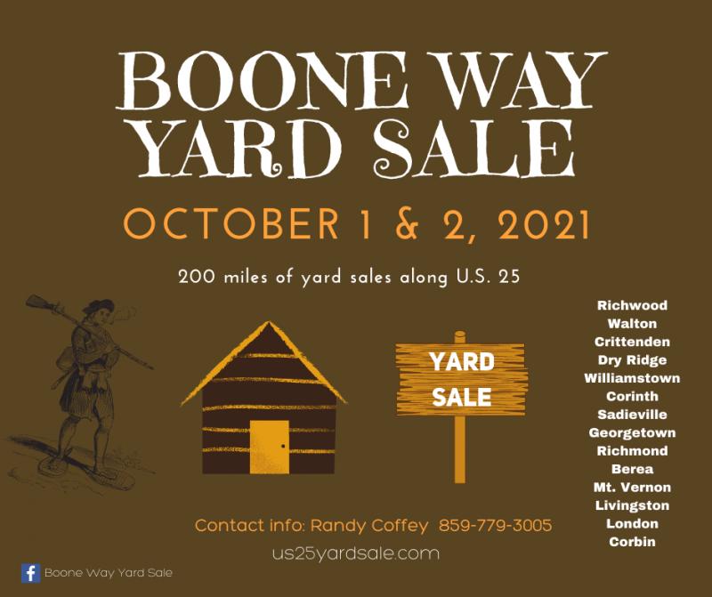 Boone Way  Yard Sale