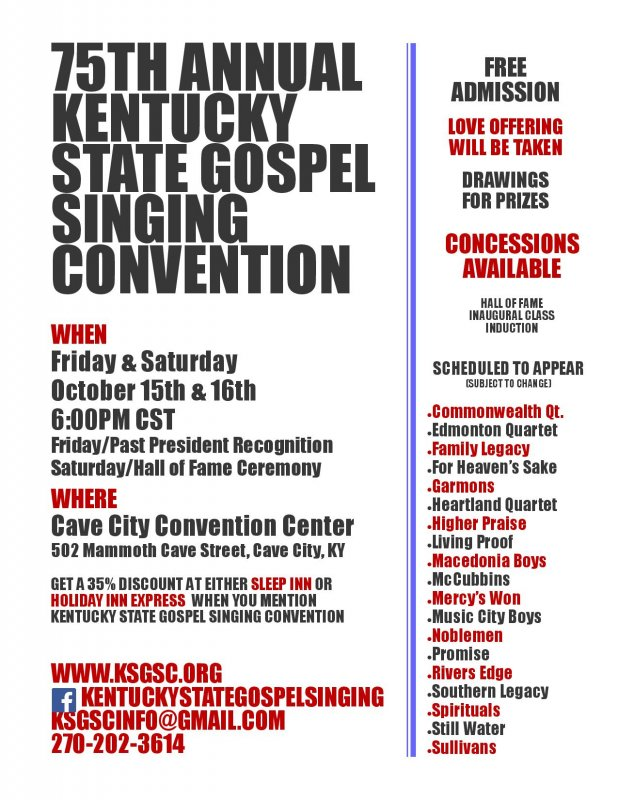 KENTUCKY STATE GOSPEL SINGING CONVENTION