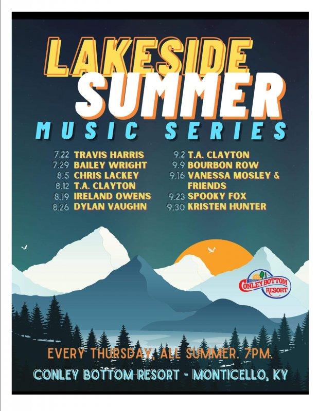 Lakeside Summer Music Series at Conley Bottom