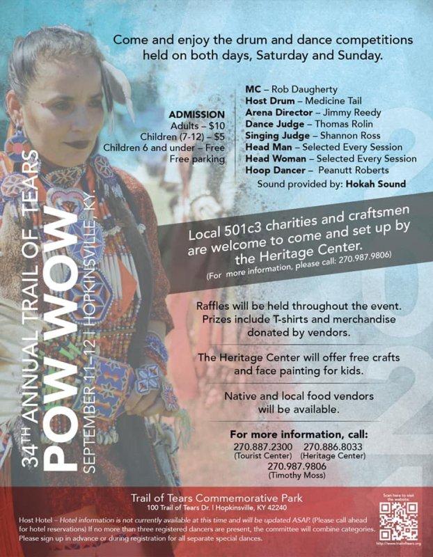Trail of Tears Pow Wow, Sept. 11