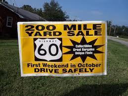 200 mile Yard Sale – US 60
