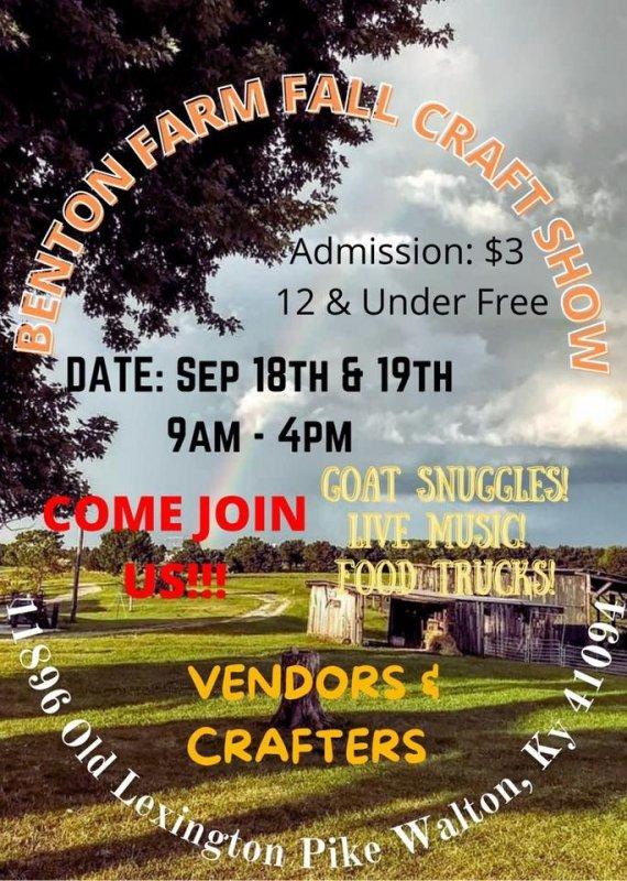 Benton Farm Annual Fall Craft Show