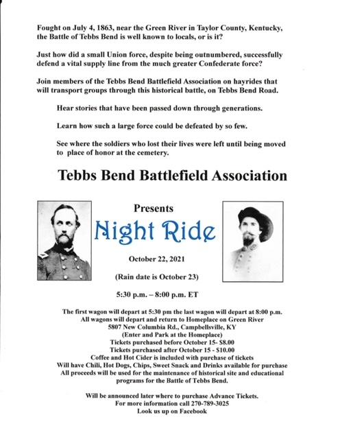Tebbs Bend Battlefield Night Ride