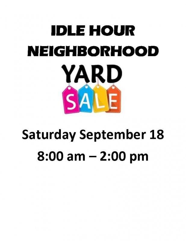 Idle Hour Neighborhood Yard Sale