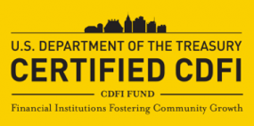 A certified Community Development Financial Institution