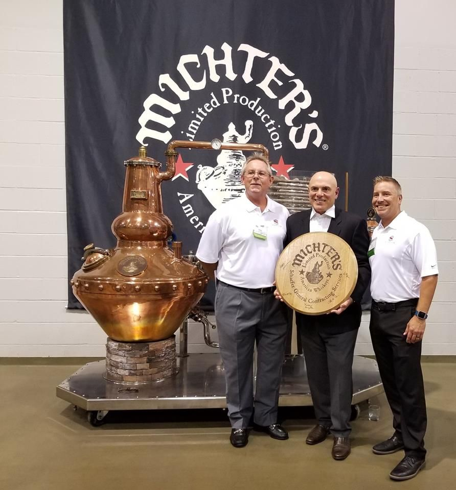 Schaefer Construction, Peary Wilson, Joe Magliocco, Eric Schaefer at Michter's